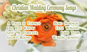 Christian Wedding Song List