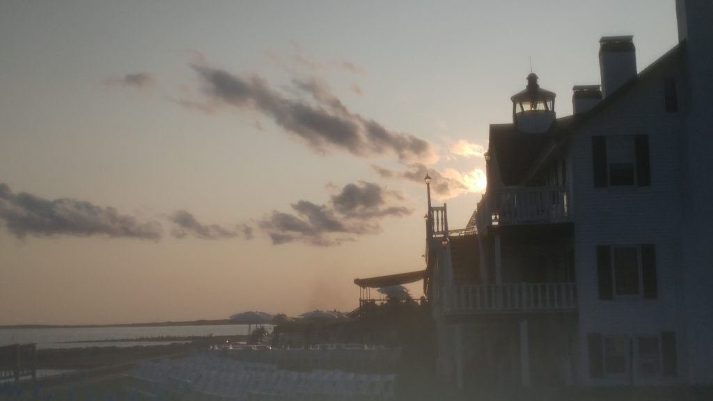 Sunset Over Lighthouse Inn